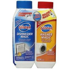 Glisten Appliance Cleaner PACK Freshens Cleans Dishwasher Magic and Washer Magic