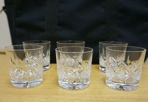 X6 LEAD CRYSTAL  WHISKY TUMBLERS - 7.5CM TALL