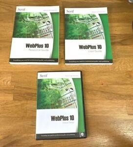 Serif Webplus 10 publishing. User guide, resource guide,programme CD,resource CD