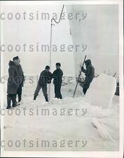 1946 US Coast Guardsmen Ice Breaker Cutter Mackinaw Sheboygan Press Photo