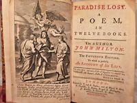 Paradise Lost 1738 John Milton 15th Edition London Publ J & R Tonfon Illustrated