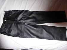 Black leather pants size 30