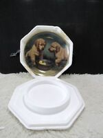 "Franklin Mint Fine Porcelain Gold Trim ""Duck Hunters"" Decorative Plate"