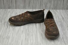 Easy Street Kila Casual Slip On Sneaker, Women's Size 8.5M, Brown Shimmer NEW