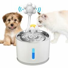 Cat Drinking Water Fountain Pet Dog Electric Automatic Bowl with Filter 2.4L LED