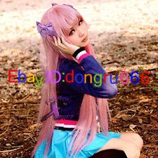 Elfen Lied Anime Long Pink Cosplay Wig + Free wig cap
