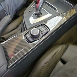 Carbon Fiber Style Multimedia Panel Cover Trim For BMW 3 4Series F30 F34 F33 F36