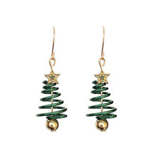 1 Pair Women Star Christmas Tree Earrings Dangle Hook Ear Drop Xmas Jewelry Gift