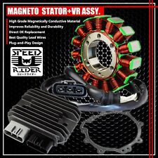 09-12 ZX-6R MAGNETO COIL STATOR+VOLTAGE REGULATOR RECTIFIER+GASKET 21003-0083