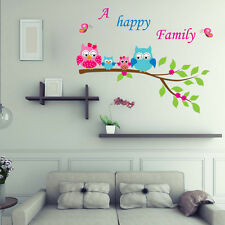 Owl Tree Branch Wall Stickers Vinyl Removable Decal Kids Room Nursery Home Decor