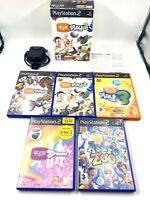 Playstation 2 Eye Toy Bundle Boxed With 5 Games - Games Bundle - Gift