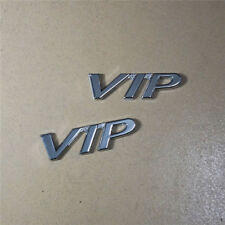 2x VIP Chrome Metal Emblem Badge Sticker Sport Limited Edition Motor Car Premium
