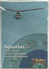 ZODIAC AQUARIUS 18kt GOLD DIPPED STERLING SILVER PLATED CHARM