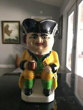 "Vintage Devonstone Toby Porcelain "" Captain Drinking Rum"" Pitcher/ Creamer 5 """