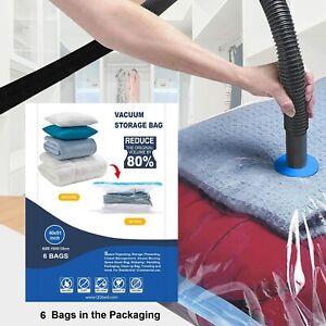 6 Super Jumbo Extra Large Space Saver Vacuum Seal Storage Bag Largest Space Bags