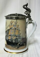 "Franklin Porcelain ""After the Race"" Tankard by L.J. Pearce 1984"