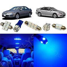 8x Blue LED lights interior package kit for 2003-2008 Mazda 6 Mazda6 MS2B