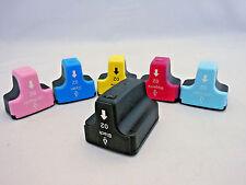 6PK HP02 #02 Ink Cartridge for HP Photosmart C6180 C7280 C8250 C8180 C7460 C7260