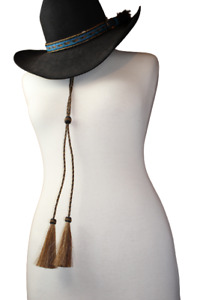 Western Horse Stampede String w Horsehair Tassel 4 Colors Keeps Your Hat On