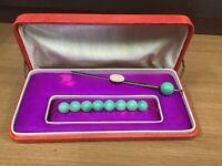 Y0553 KANZASHI Hair Stick Comb Hairpin Set green ball box Japan kimono accessory