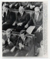 TED KENNEDY original wire photo 1963 JFK STATE OF THE UNION