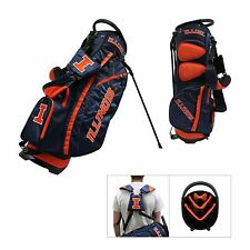 Brand New Team Golf Ncaa Illinois Fighting Illini Fairway Stand Bag 21328