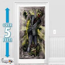 NUEVO 1.65m Halloween Terror Fiesta Zombi Apocalipsis Puerta Pancarta Póster