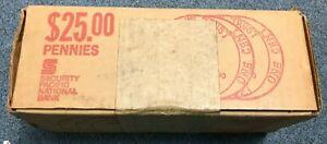 Picker's Unopened Box of $25 Shotgun Rolls 1975-D BU Lincoln Penny's.