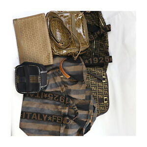 Fendi Canvas PVC Nylon Hand/Shoulder/Vanity Bag  Clutch 8pc set 522737