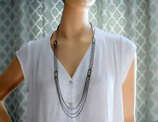 Fashion chain necklace with faux gemstones NWOT