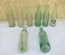 8 Vintage Decor Soda Bottles Embossed Nehi Orange Crush Coca Cola Torpedo