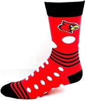 Louisville Cardinals NCAA Ladies Crew Socks Red Black