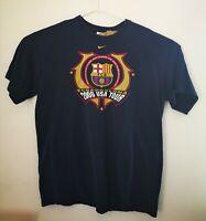 Nike Fcbarcelona 2006 USA Tour T-Shirt Large 100% Cotton