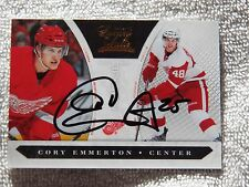 Detroit Red Wings Cory Emmerton Signed 10/11 Luxury Suite Rookie Card Auto #/999