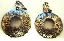 SIOUXSIE AND THE BANSHEES  VINTAGE CAST METAL EARRINGS