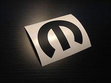"3.5"" Mopar M Matte Black Sticker Vinyl Decal Dodge SRT RT Charger Challenger 8"