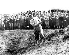 Bobby Jones 1930 British Open hitting out of deep rough