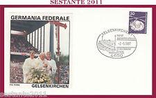 W230 VATICANO FDC ROMA GIOVANNI PAOLO II GERMANIA FEDERALE GELSENKIRCHEN 1987