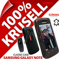 Krusell Classic Case Genuine Leather Cover + Belt Clip for Samsung Galaxy Note