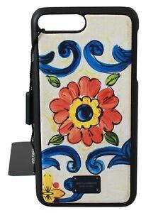 DOLCE & GABBANA Phone Case Cover White Majolica Logo iPhone 7-8 Plus RRP $150