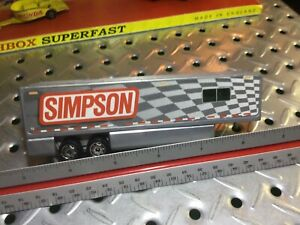 2005 Matchbox Simpson Racing Trailer Only