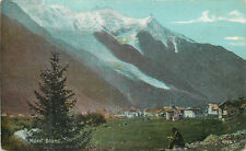 Mont Blanc vintage postcard
