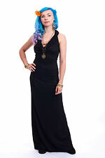 Slinky Cowl Neck Ballgown, Long Evening Dress, Lbd Bohemian Backless Prom Gown