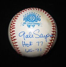 GALE SAYERS SIGNED 1990 MLB ALL-STAR BASEBALL CHICAGO BEARS JSA COA