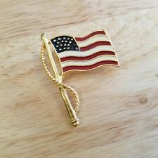 New listing Premier Designs American Flag Pin, enamel flag brooch