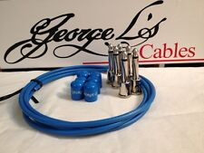 George L's 155 Guitar Pedal Cable Kit .155 Blue / Blue / Nickel - 6/6/6