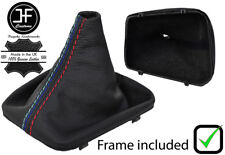 BLACK STITCH LEATHER GEAR BOOT + PLASTIC FRAME FOR BMW 3 SERIES E36 91-98 M///