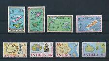 LN50051 Anguilla Antigua maps cartography fine lot MNH