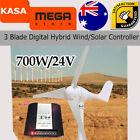 Wind Turbine Generator three Blade digital Hybrid Wind/sun Controller 700W 24V