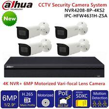 Dahua 4K 8CH NVR +6MP POE Motorized Zoom Bulit-in MIC Camera CCTV Security Kit